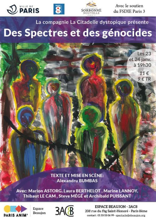 Affiche SPECTACLE SPECTRES GENOCIDES